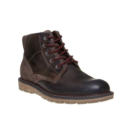 Scarpe di pelle alla caviglia bata, marrone, 894-4271 - 13