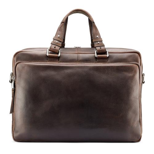 Borsa da ufficio in vera pelle bata, marrone, 964-4106 - 26