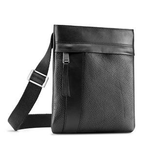 Tracolla in pelle con zip bata, nero, 964-6131 - 13