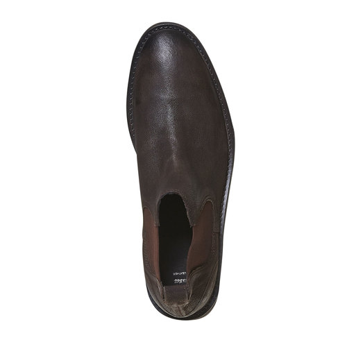 Scarpe Chelsea da uomo in pelle bata, marrone, 894-4566 - 19