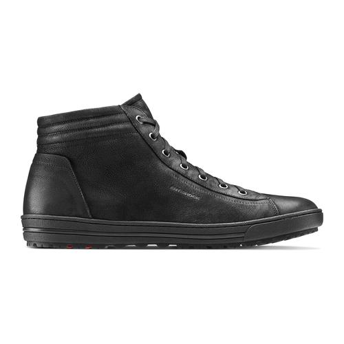 Sneakers alte da uomo in pelle bata, nero, 894-6295 - 26