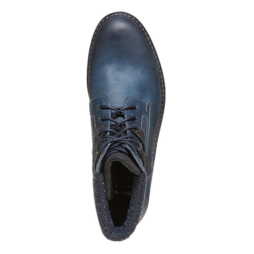 Scarpe da uomo in pelle alla caviglia bata, blu, 894-9634 - 19