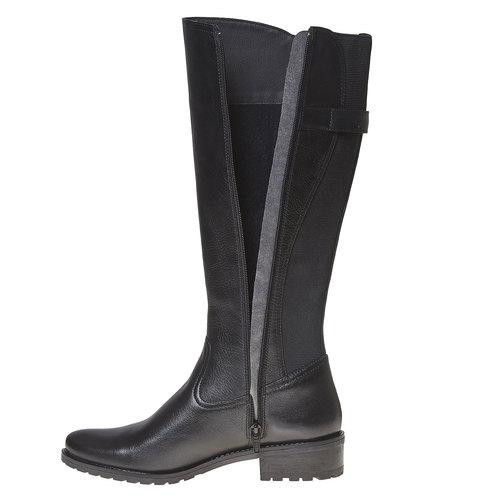 Stivali di pelle con parte flessibile bata, nero, 594-6300 - 19