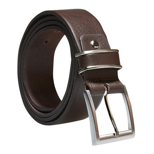 Cintura da uomo in pelle bata, marrone, 954-4130 - 13