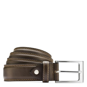 Cintura in pelle marrone bata, marrone, 954-4828 - 13