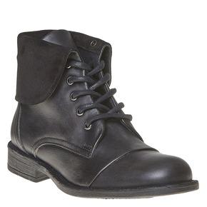 Scarpe da donna in pelle sopra la caviglia bata, nero, 594-6450 - 13