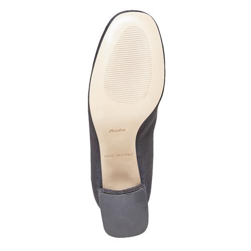 Stivaletti di velluto bata, nero, 799-6643 - 26