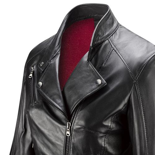 Chiodo in pelle da donna bata, nero, 974-6119 - 15