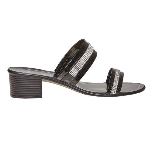 Sandal  bata, nero, 671-6111 - 15