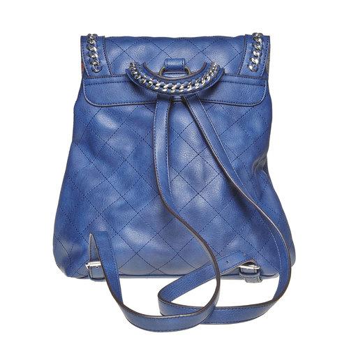 Zaino azzurro trapuntato bata, blu, 961-9507 - 26