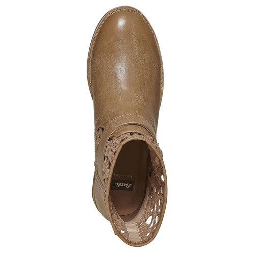 Stivaletti alla caviglia con pizzo bata, beige, 591-2110 - 19
