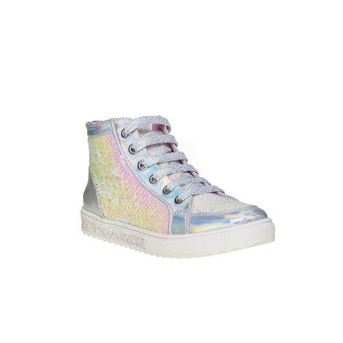 Sneakers da bambina alla caviglia mini-b, bianco, 329-1260 - 13