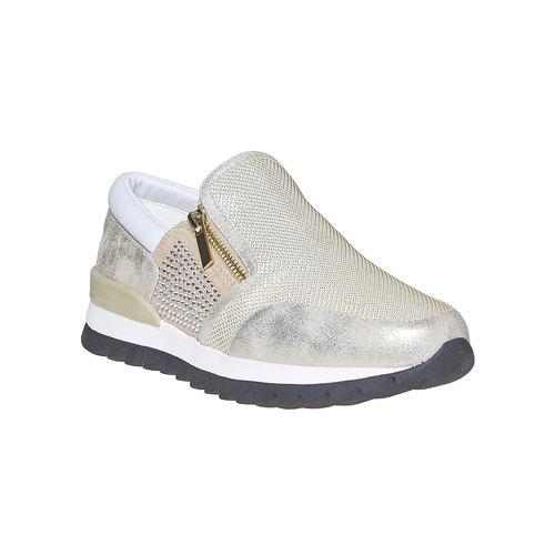 Sneakers da donna con suola appariscente north-star, oro, 539-8127 - 13