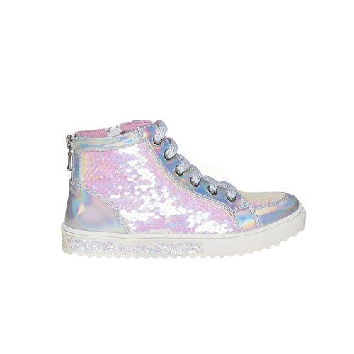 Sneakers da bambina alla caviglia mini-b, bianco, 329-1260 - 15