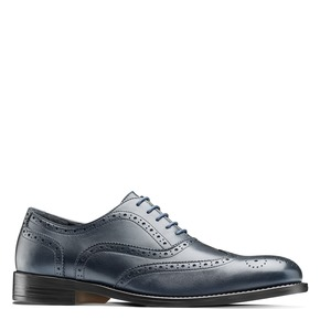 Oxford in pelle bata, blu, 824-9801 - 13