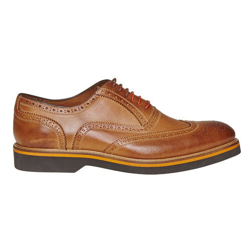 Scarpe basse marroni in stile Oxford bata-the-shoemaker, marrone, 824-8776 - 15