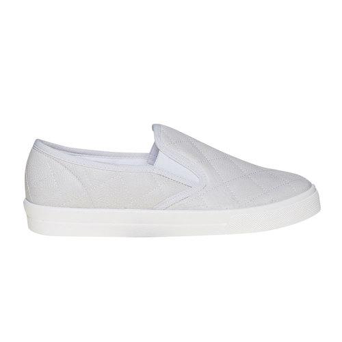 Slip-on trapuntate da donna north-star, bianco, 531-1125 - 15