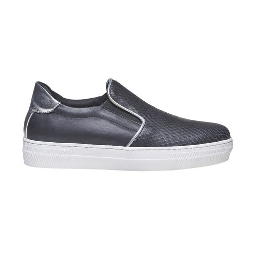 Scarpe in pelle in stile Slip-on north-star, nero, 514-6265 - 15