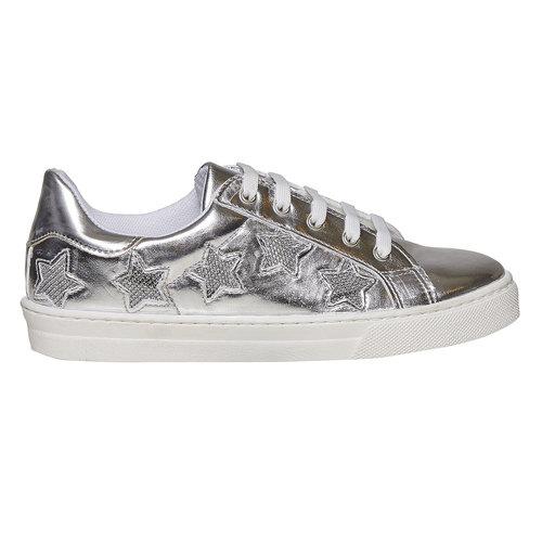 Sneakers metallizzate da donna north-star, bianco, 541-1271 - 15