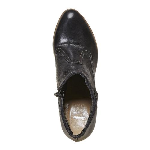 Stivaletti in pelle alla caviglia bata, nero, 724-6556 - 19