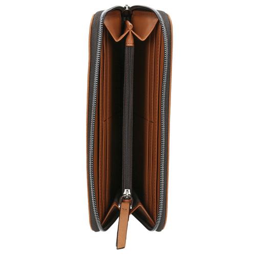 Portafoglio marrone con perforazioni bata, marrone, 941-3154 - 15