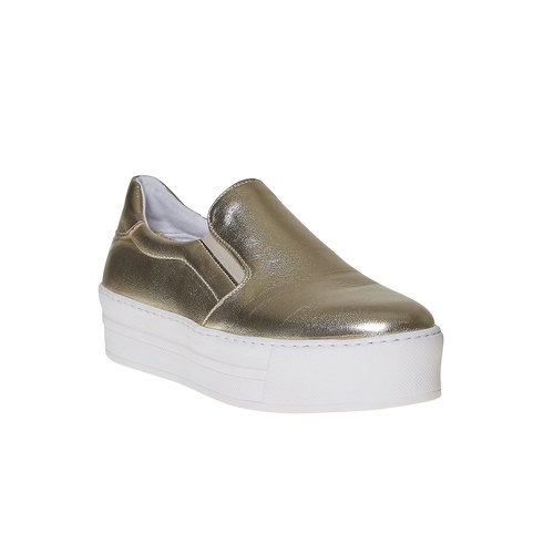 Scarpe dorate in stile Slip-on north-star, oro, 514-8265 - 13