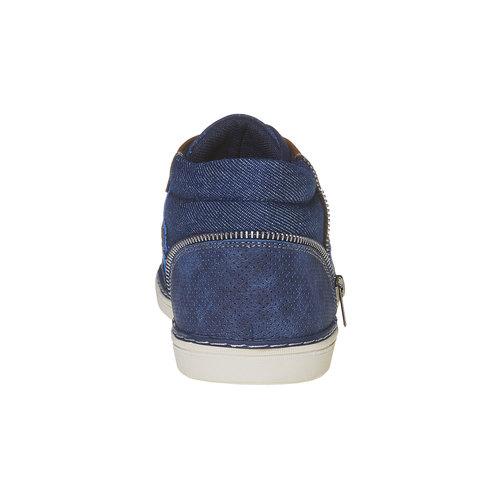 Sneakers da uomo sopra la caviglia bata, blu, 841-9342 - 17