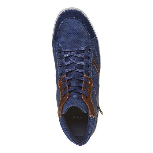 Sneakers da uomo sopra la caviglia bata, blu, 841-9342 - 19
