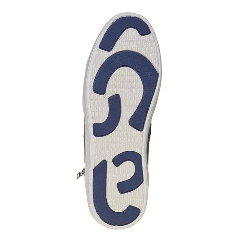 Sneakers da uomo sopra la caviglia bata, blu, 841-9342 - 26