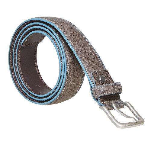 Cintura in pelle con orlo blu bata, giallo, 954-8228 - 13