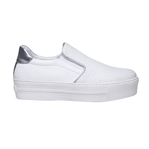 Slip-on da donna di pelle north-star, bianco, 514-1265 - 15