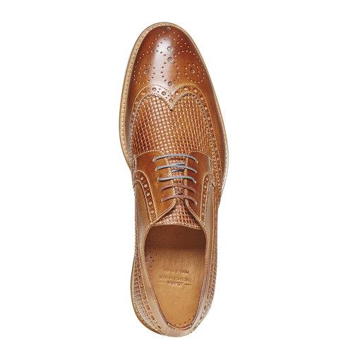 Scarpe basse di pelle con decorazione Brogue bata-the-shoemaker, marrone, 824-3302 - 19