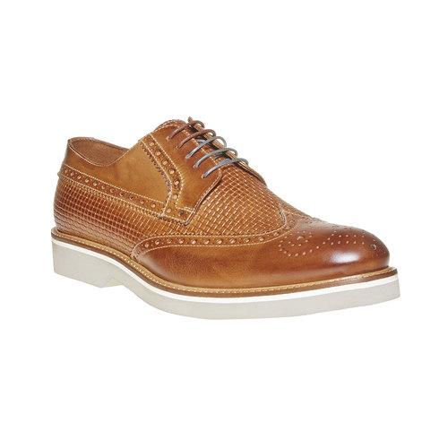 Scarpe basse di pelle con decorazione Brogue bata-the-shoemaker, marrone, 824-3302 - 13