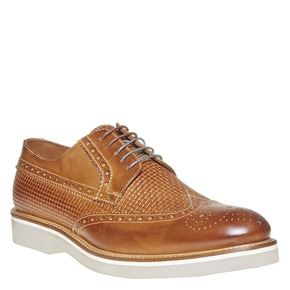 Scarpe basse di pelle con decorazione Brogue bata-the-shoemaker, marrone, 824-3302 - 13