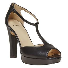 Sandali in pelle da donna bata, nero, 724-6708 - 13