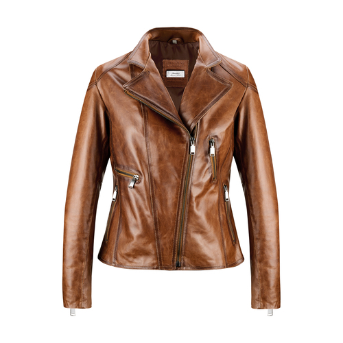 Biker da donna in pelle bata, marrone, 974-3162 - 13