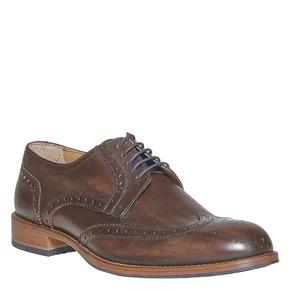 Scarpe basse di pelle da uomo bata, marrone, 824-4563 - 13