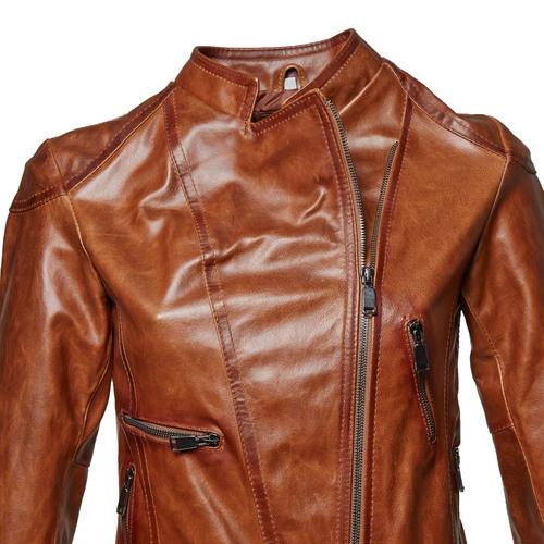Biker da donna in pelle bata, marrone, 974-3162 - 14