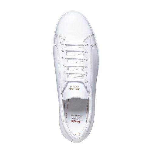 Sneakers bianche di pelle flexible, bianco, 844-1705 - 19