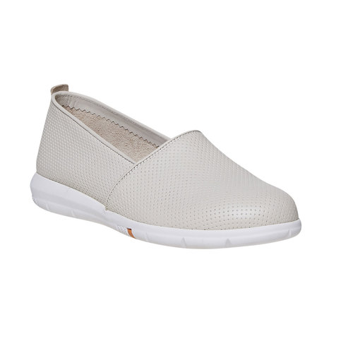 Slip-on da donna in pelle flexible, beige, 514-8270 - 13