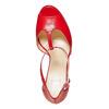 Sandali rossi con tacco bata, rosso, 724-5708 - 19