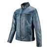Giubbotto da uomo in finta pelle bata, blu, 971-9194 - 16