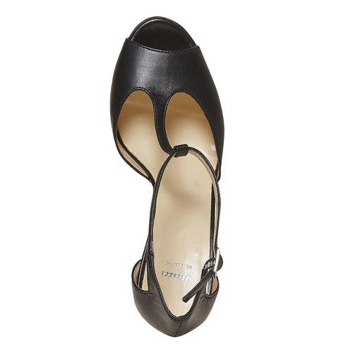 Sandali in pelle da donna bata, nero, 724-6708 - 19
