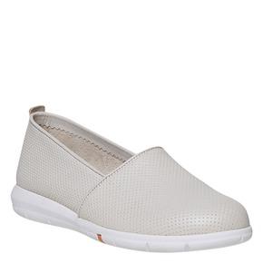 Slip-on da donna in pelle flexible, beige, 514-8270 - 13