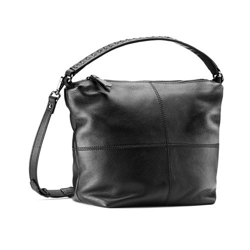 Borsa di pelle in stile Hobo bata, nero, 964-6121 - 13