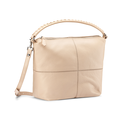 Hobo bag in pelle bata, beige, 964-1121 - 13