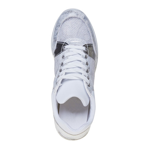 Sneakers da donna con dettagli metallizzati north-star, bianco, 541-1205 - 19