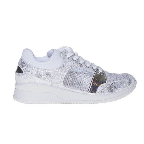 Sneakers da donna con dettagli metallizzati north-star, bianco, 541-1205 - 15