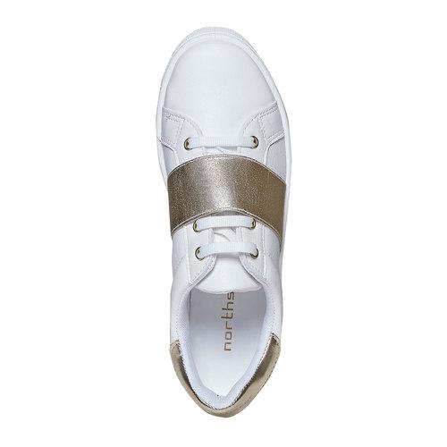 Sneakers con cinturino sul collo del piede north-star, bianco, 541-1276 - 19