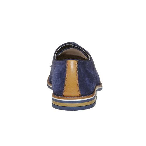 Scarpe basse di pelle da uomo bata, blu, 823-9267 - 17